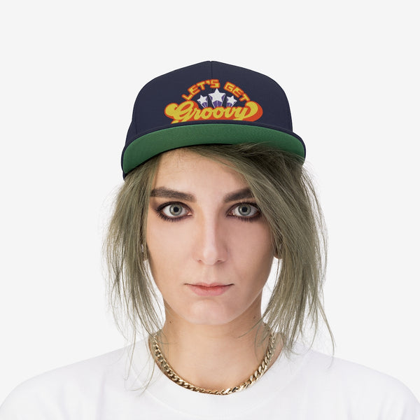 Let's Get Groovy Snap Back Hat / Retro Cool, Vintage 70s Style. Only for SuperStars