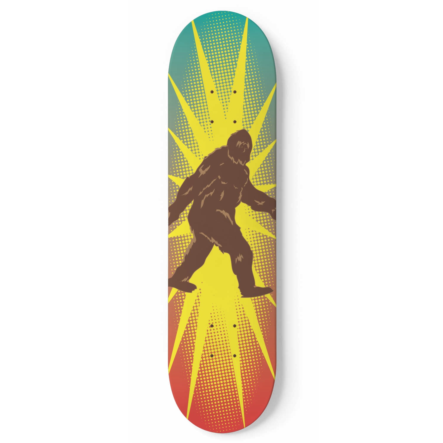 Bigfoot Roam Free - Skateboard Deck