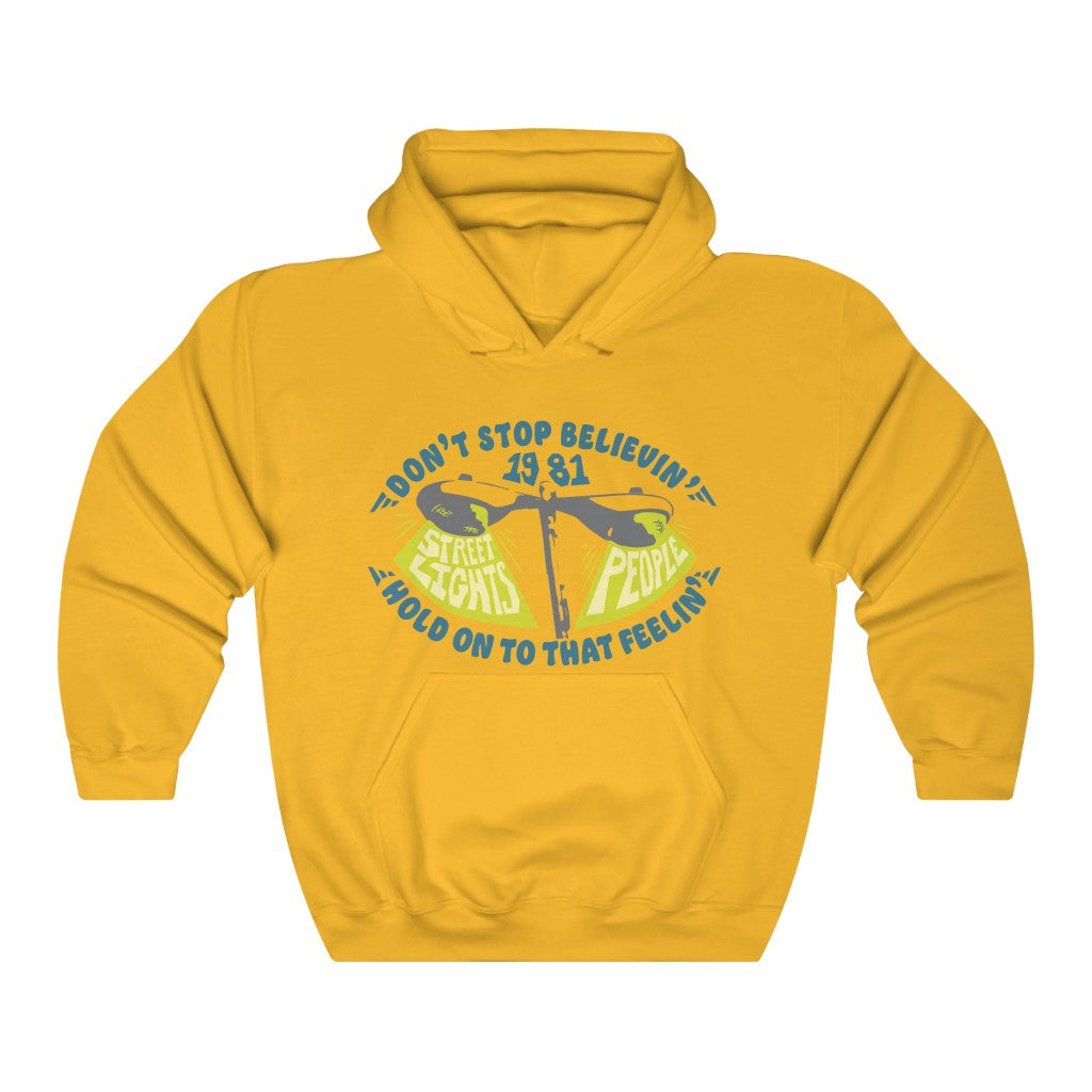 Don't Stop Believin' Fleece Hoodie / Street Lights People, Found Love, 80s