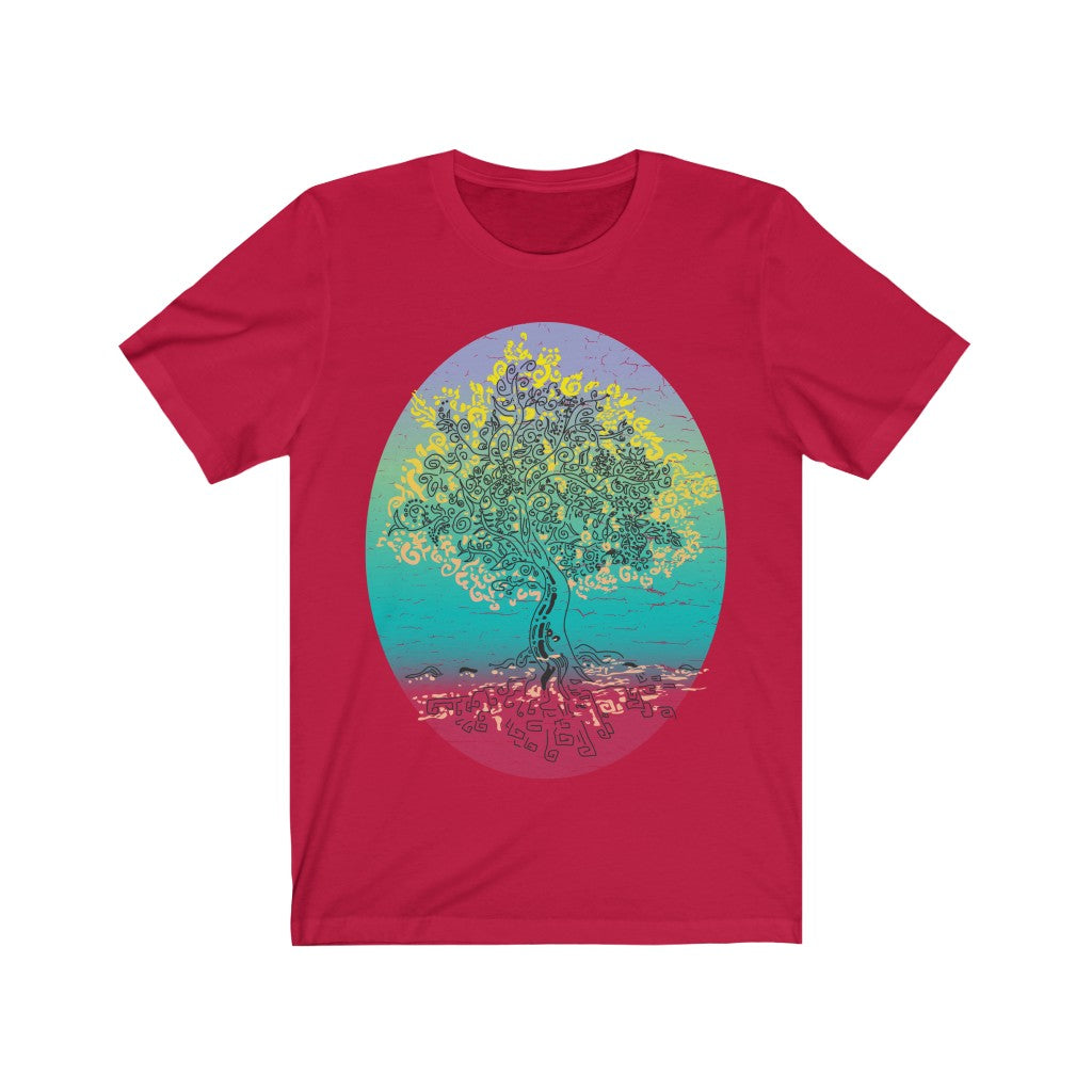 Tree of Life - Premium T-Shirt / Water's Edge, Ocean View, Life Choices Path, Zen Virtues, Yoga Gift, Sunrise, Relax Art