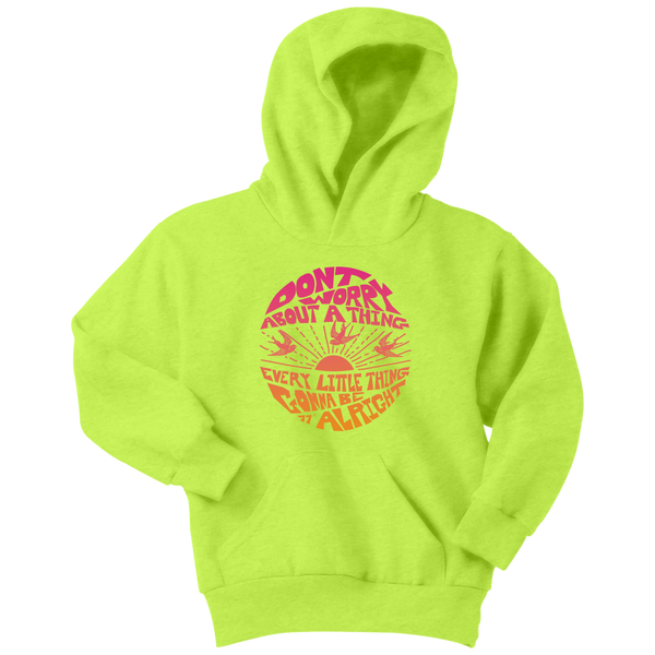 Don't Worry - Kids Hoodie / Bob Marley, 3 Little Birds, Sunshine, Good Vibes, Youth Sizes