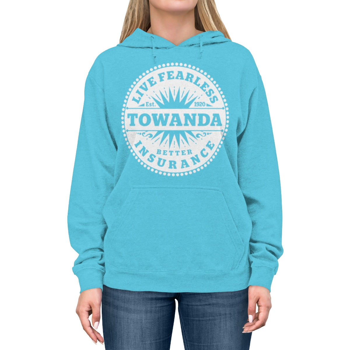 Live Fearless TOWANDA - Lightweight Hoodie / Fried Green Tomatoes, Girl Power Gift