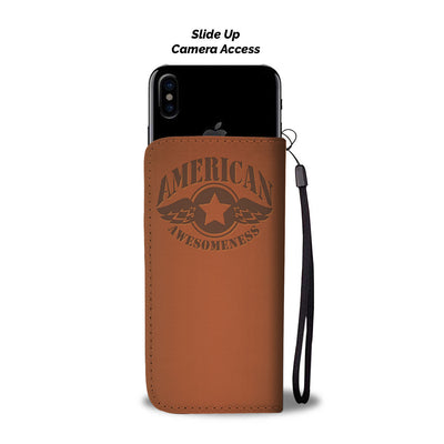 American Awesomeness Leather Look - Phone Wallet Case