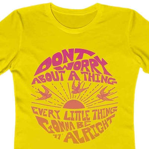 Don't Worry - Women's Premium T-Shirt / Bob Marley, 3 Little Birds, Sunshine