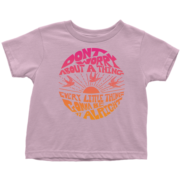 Don't Worry - Toddler Supersoft Tee / Bob Marley, Song Lyrics, 3 Little Birds, 1970's, Reggae Music, Favorite Song, Zen, Peace, Love, Hippie, Music Gift