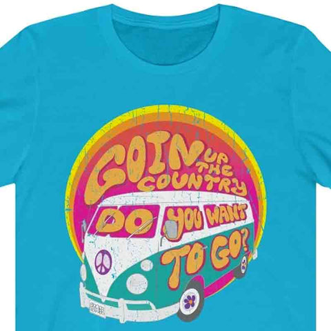 Goin' Up The Country - Premium T-Shirt / Woodstock Festival, Peace Love Van