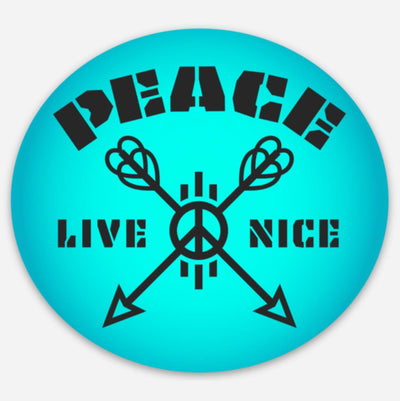 Peace Live Nice - Sticker