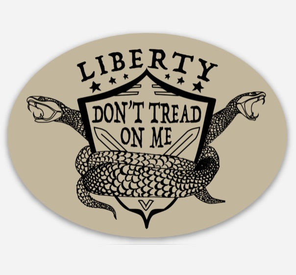 Liberty Don't Tread - Sticker 3""