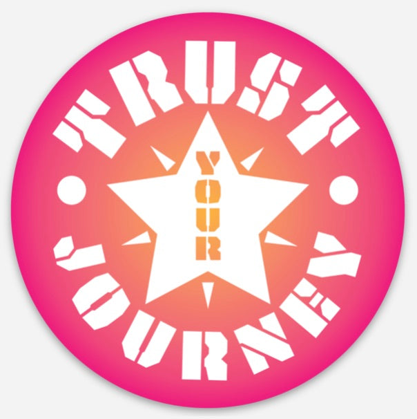 Trust Your Journey, Star - Sticker 3""