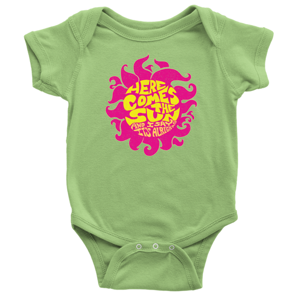 Here Comes The Sun - Baby Onesie / It's Alright, Song Lyrics, Good Vibes, Live Happy, Zen, Beatles, Relax, Happy, Cool