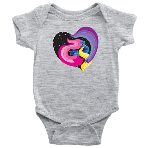 Groovy Falling Stars - Baby Onesie / Retro Cool, Vintage 1970s, Make A Wish, Love Wish Gift, Catch A Falling Star, Starlight