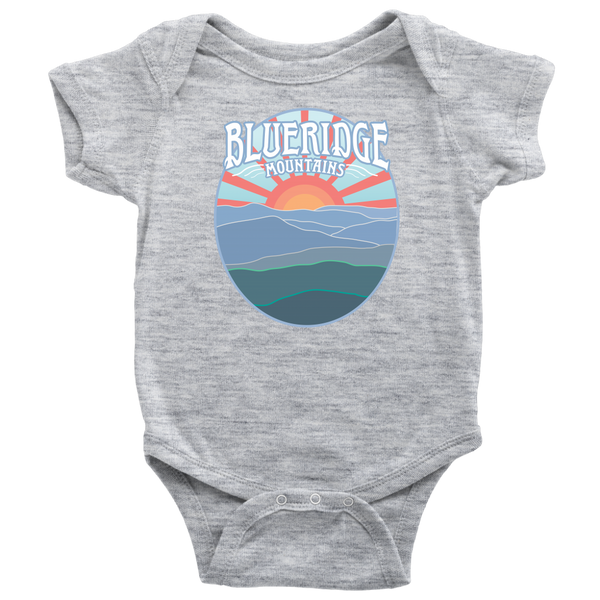 Blueridge Baby Onesie, Bodysuit / East Coast Kid, Appalachian Trail Hike, Mountain Lover Gift