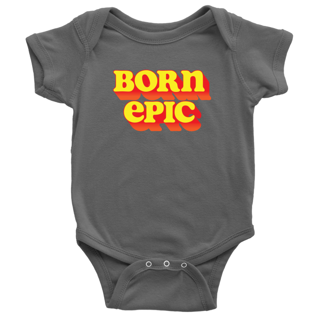Born Epic - Supersoft Onesie / Adventure, Travel, Daring