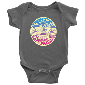 Don't Worry Onesie : Baby body suit / Bob Marley Three Little Birds