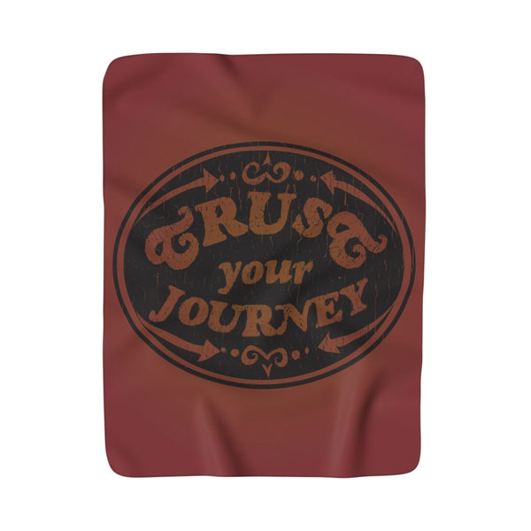 Trust Your Journey, Points - Sherpa Fleece Blanket