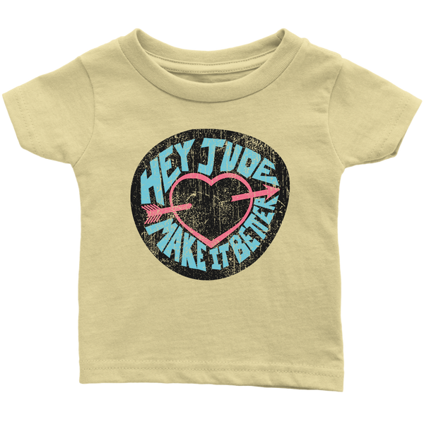 Hey Jude Infant T-shirt / The Beatles, Song Lyrics, 1960s, Rock n Roll Music, Favorite Song, Zen, Peace, Love, Hippie, Music Gift, British Band