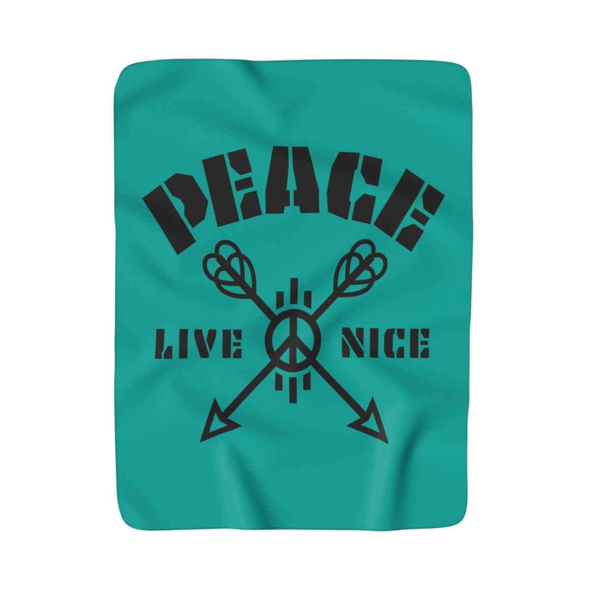 Peace, Live Nice - Super Fleece Blanket