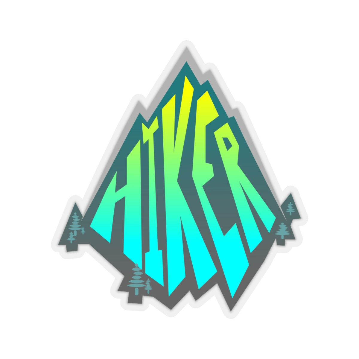 Hiker, Bold Mountain - Sticker