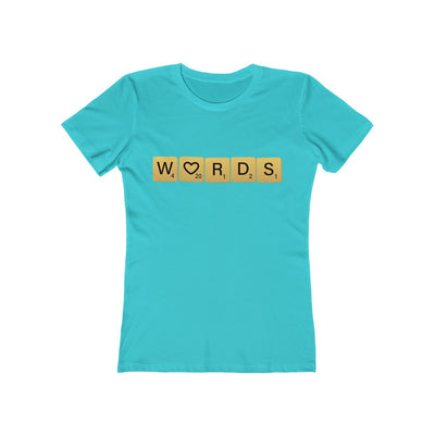 Words Love - Women's T-Shirt / Scrabble Player Gift, Writer Shirt