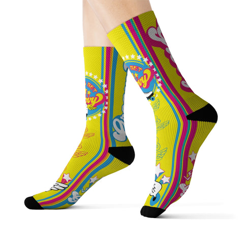 Groovy Roller Skate Socks / 1970s Vintage Gift, Disco, Staying Alive, Roller Derby, Retro, Wings, Roller Rink, Speed Skate