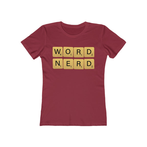 Word Nerd - Women's T-Shirt / Scrabble Player Gift, Writer Shirt