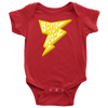 Born To Rock - Baby Onesie Bodysuit / Baby Shower Gift, Rock n Roll, Cool Kid, Cool Parents, Music Gift, Lightning Bolt