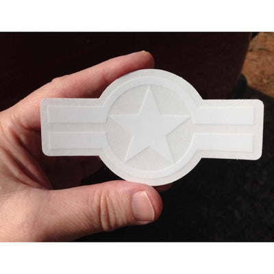 Star And Stripe, Eagle Driver - Clear Sticker 4""
