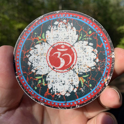Lotus Compass Om - Sticker