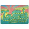 TOWANDA Door Mat / Fried Green Tomatoes, Strong & Brave Woman, Gift for Her, Peach Sunrise, Juliette GA, Better Insurance