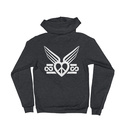 Peace Love Forever Winged - Zip Hoodie