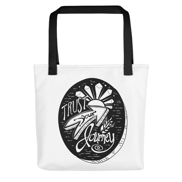 Trust Your Journey, Tree Slice - Tote Bag