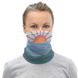 BlueRidge Mountains - Neck Gaiter, Mask / Appalachian Trail Hike, Mountain Lover Gift, Georgia, No So Carolina, Tennessee, Virginia, East Coast