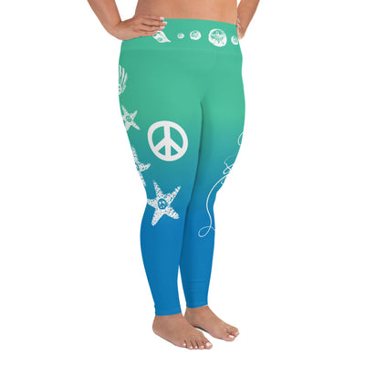 Peace Sea Life - Plus Size Leggings