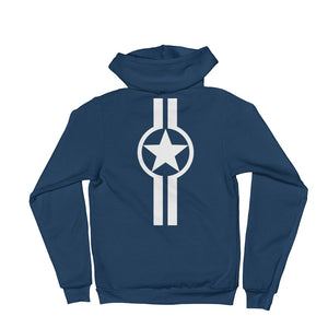 Live Brave, Star And Stripe Mach 1 (back) - Hoodie sweater