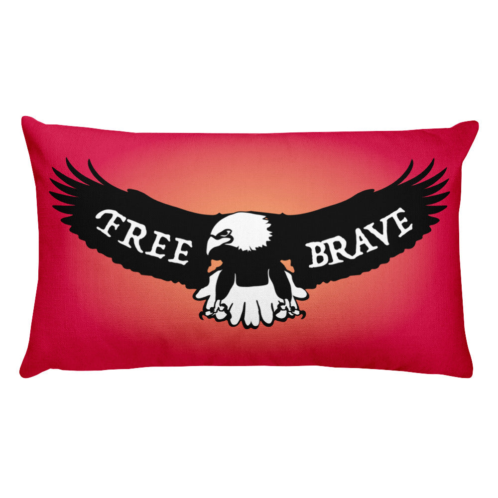 Fly Free & Brave - Premium Pillow