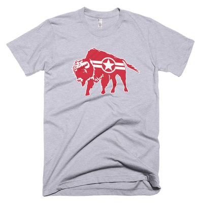Roam Free Buffalo, Star And Stripe - T-Shirt