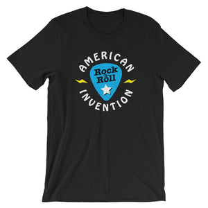Rock & Roll, American Invention (Guitar Pick) - Short-Sleeve T-Shirt