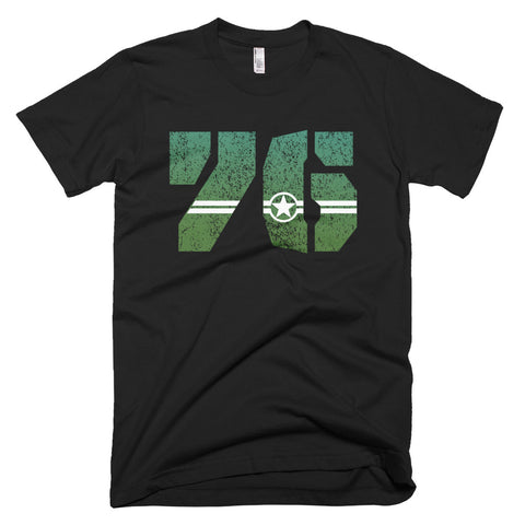 76 Undaunted, Star And Stripe Eagle Driver - T-Shirt