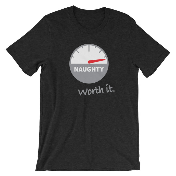 Naughty, But Worth It (Christmas) - Short-Sleeve Unisex T-Shirt