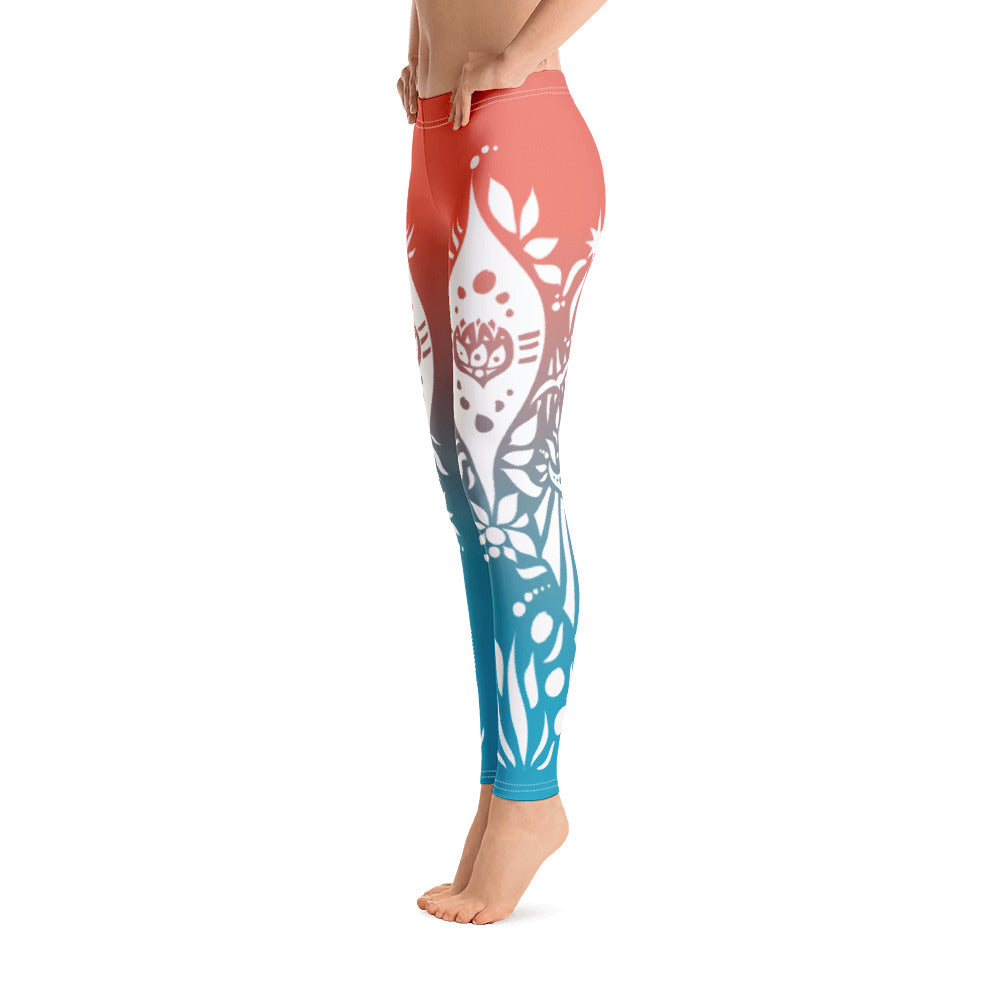 Tribal Lotus - Leggings