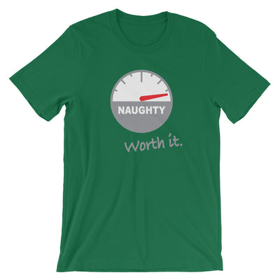 Naughty, But Worth It (Christmas) - T-Shirt