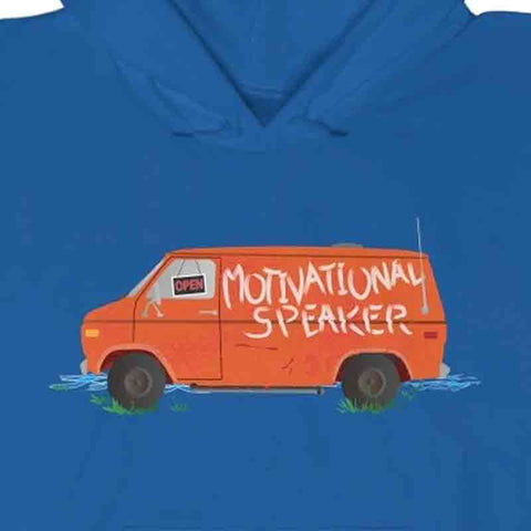 Motivational Speaker Van - Fleece Hoodie / Down By The River, Matt Foley