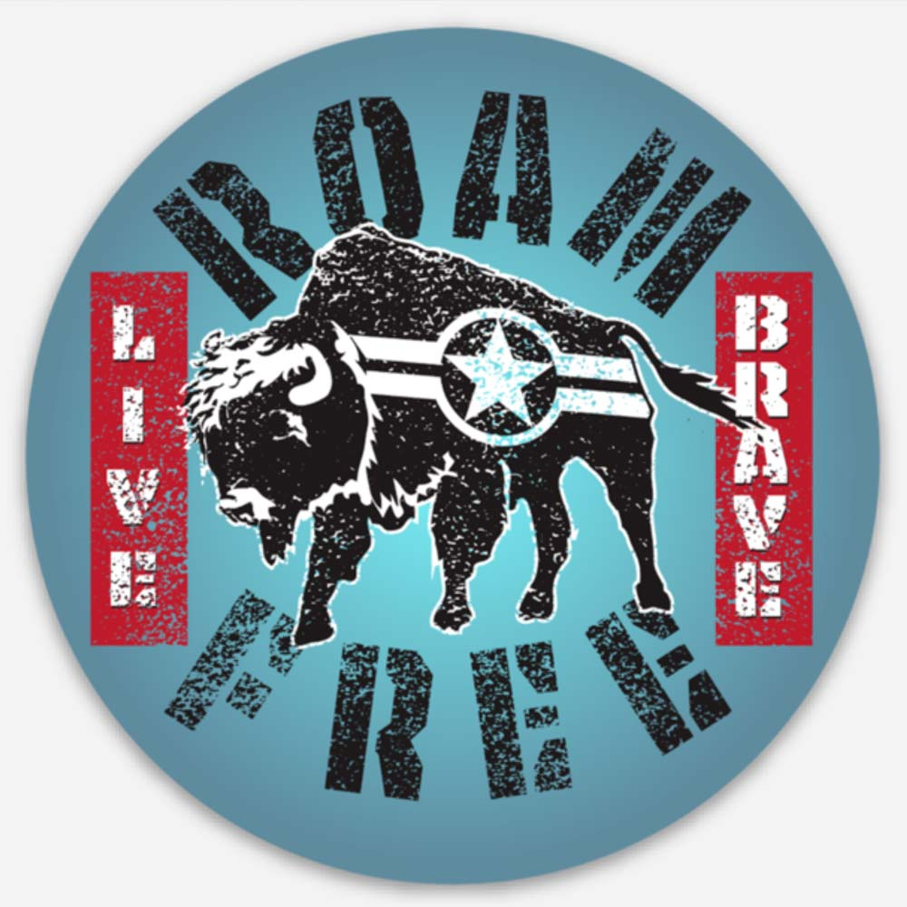 Roam Free Buffalo - Sticker