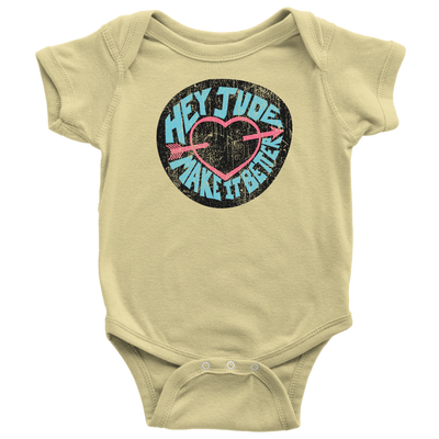 Hey Jude Onesie, Bodysuit / The Beatles Gift, Song Lyrics, Vintage 60's Rock Music Gift, British Band, Peace Love