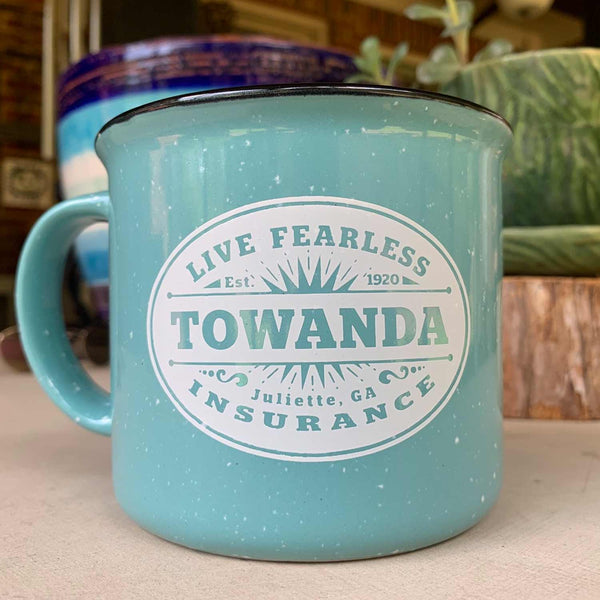 Brave TOWANDA Campfire Mug XL / Fried Green Tomatoes, Towanda Brave