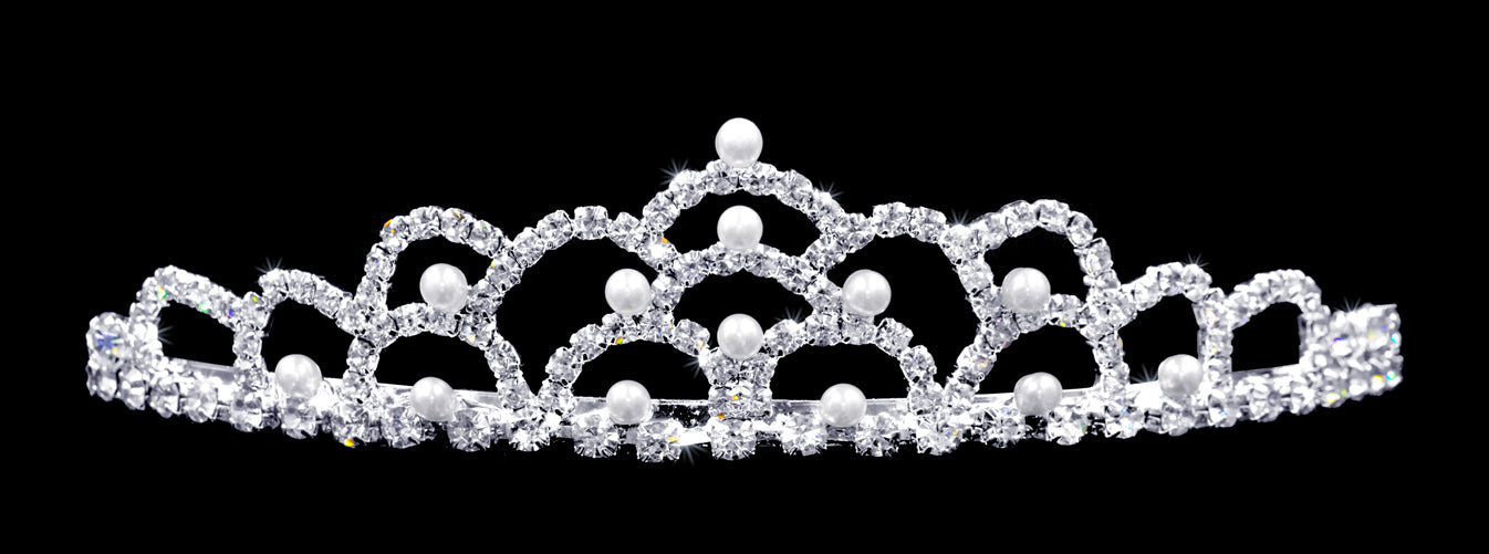 #10235 - Pearl Mountain Crystal Tiara
