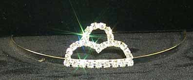 Tiara - Small Mountains Crystal Tiara #10900