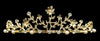 #10949G - Filigree Crystal Tiara - Gold Plated
