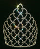 "10"" Traditional Rhinestone Queen Crown -  Silver #11185S"