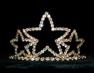 Triple Star Tiara #11387G - Gold Plated